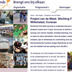 Stichting Felis is bij het Oranje fonds project van de week  Stichting Felis is bij het Oranje fonds project van de week